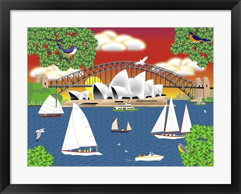 Framed Dream of Sydney Print