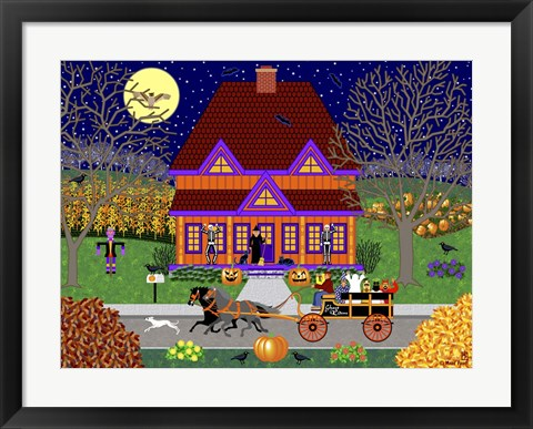 Framed Pumpkin House Print