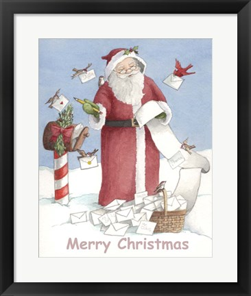 Framed Merry Christmas Santa Print