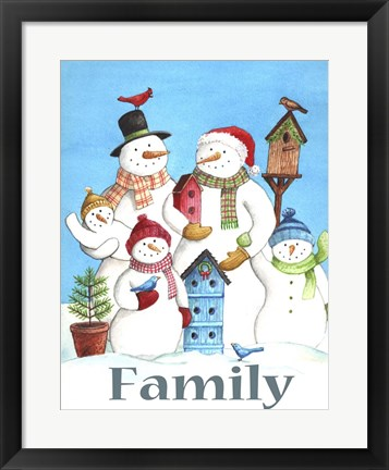 Framed Snow Family Print