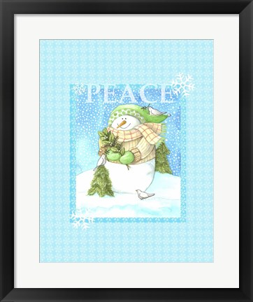 Framed Snowman Joy Print