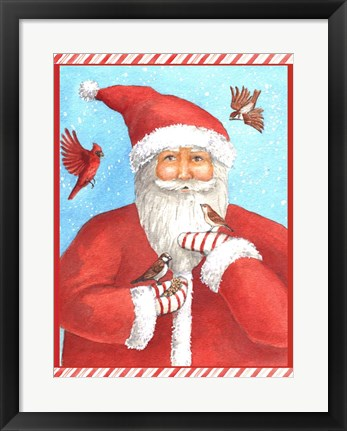 Framed Santas Bird Greeting Print
