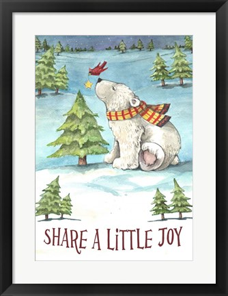 Framed Share A Little Joy Print