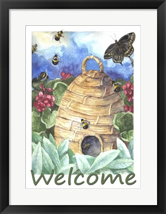 Framed Beehive Welcome Print