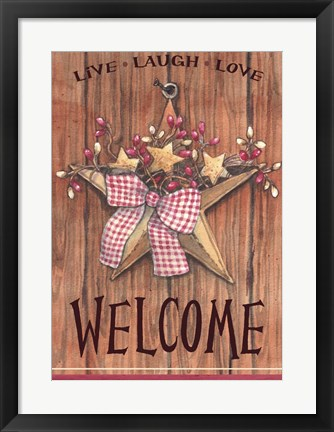 Framed Country Star Welcome Print