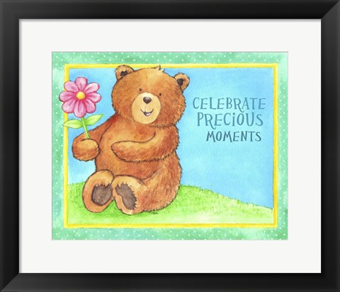 Framed Celebrate Precious Bear Print