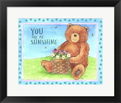 Framed Bear Sunshine Print