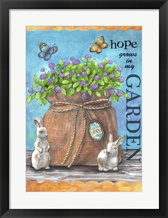 Framed Hope Garden Print