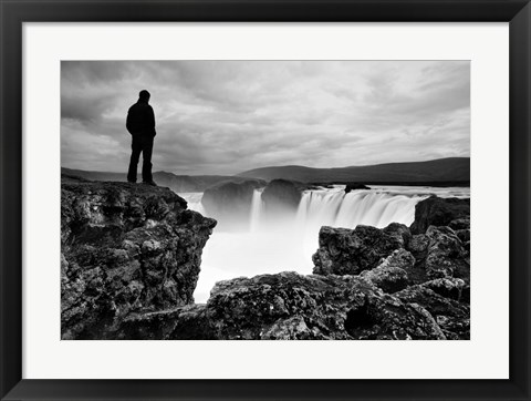 Framed Iceland Waterfall Print