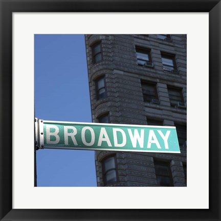Framed NYC Broadway Print