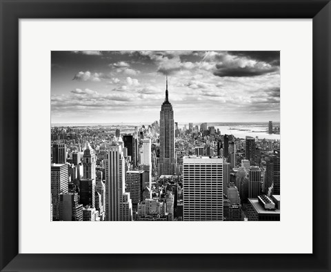 Framed NYC Downtown Print