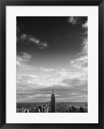 Framed NYC Manhattan Sky Print