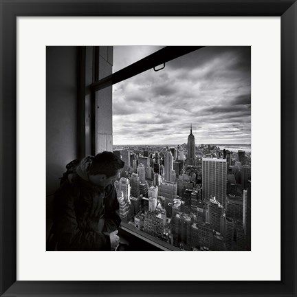 Framed NYC Manhattan View Print