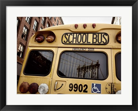 Framed NYC School Bus Print