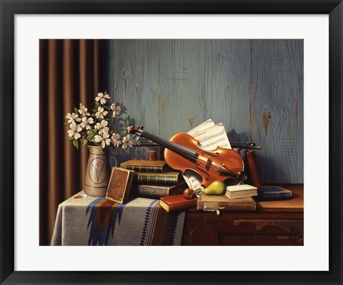 Framed New Violin Print