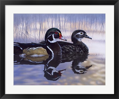 Framed Just Ducky Print