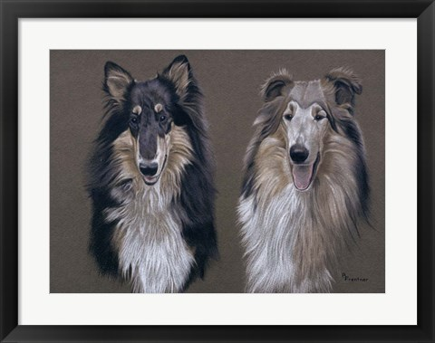 Framed Dog  Seven Print