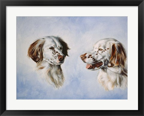 Framed Pair of Dogs Print