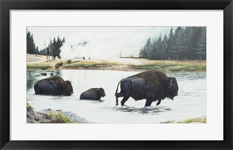 Framed Spirit Of Yellowstone Print