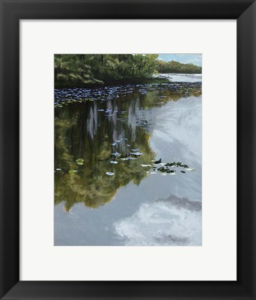 Framed Lake and Lily Pads Print