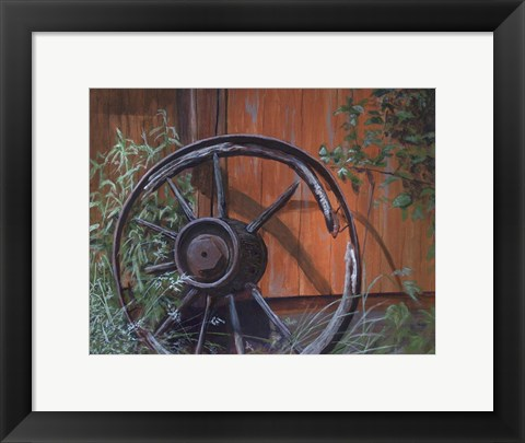 Framed Wagon Wheel Print