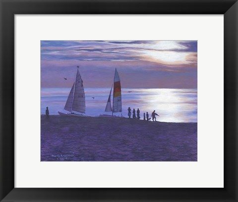 Framed Weco Beach Print