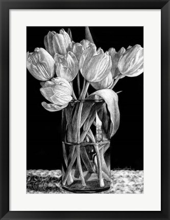 Framed Nine Tulips Print