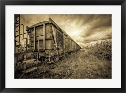 Framed Lost Train Print