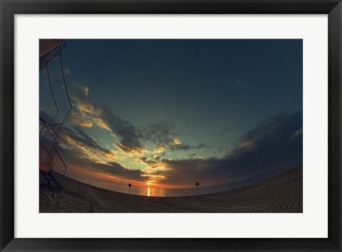 Framed Cypress Sunrise I Print