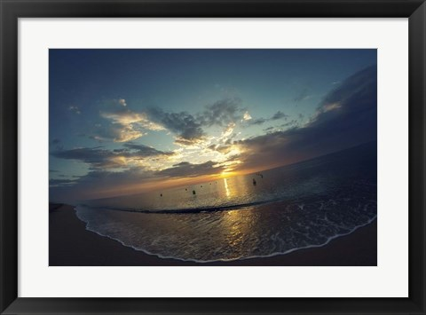 Framed Cypress Sunrise II Print