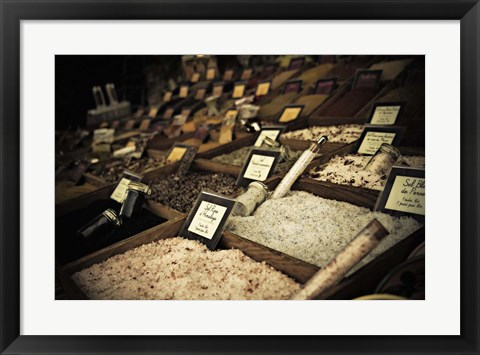 Framed Salt Shelves Print