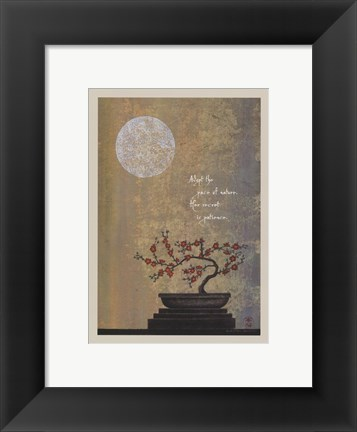 Framed Pace Of Nature Print