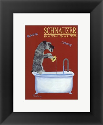 Framed Schnauzer Bath Salts Print