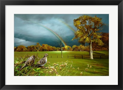 Framed Cades Cove Rainbow Print