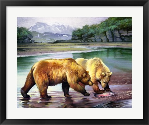 Framed Coastal Grizz Print