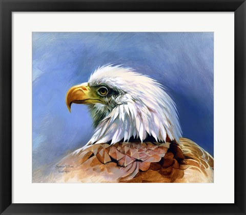 Framed Eagle Portrait Print