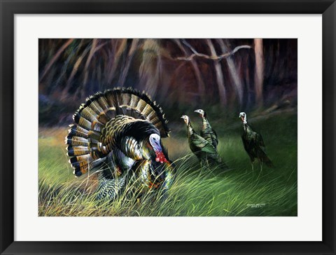 Framed Frost Turkey Print