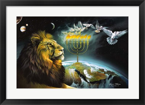 Framed Menorah Print