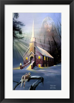 Framed Rock Church Print