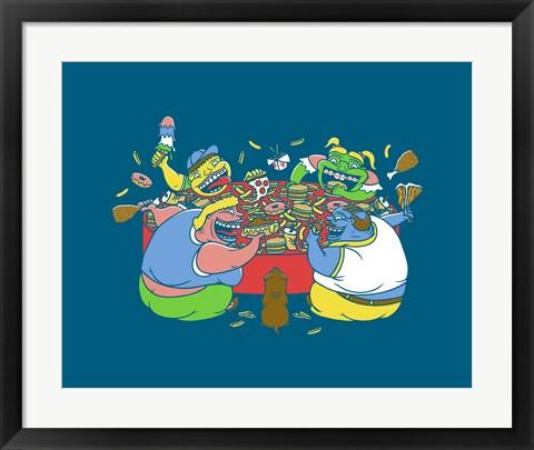 Framed Hungry Hungry Humans Print