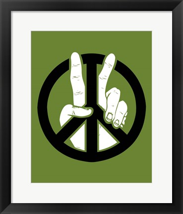 Framed Peace to the 2nd Power Print