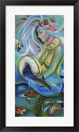 Framed Fergierina the Mermaid Print