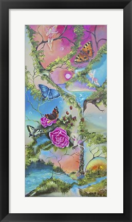 Framed Follow the Butterflies Print