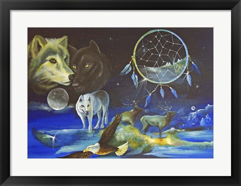 Framed Magical Spirits Print