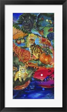 Framed Cats in Season Print