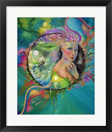Framed Lost Mermaid Print