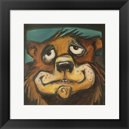 Framed Bear Poster Print