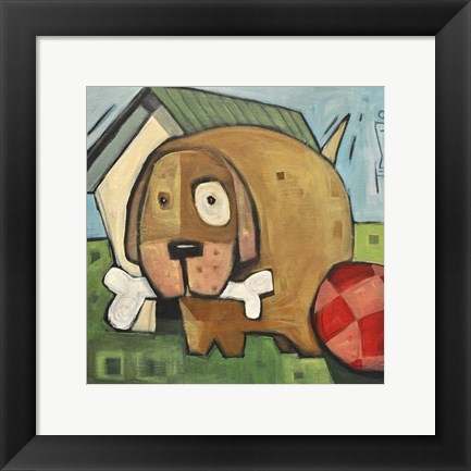 Framed Dog Poster 2 Print