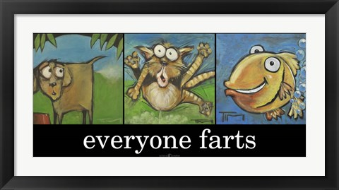 Framed Everyone Farts Poster Print