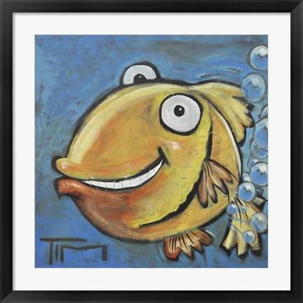 Framed Farting Fish Print
